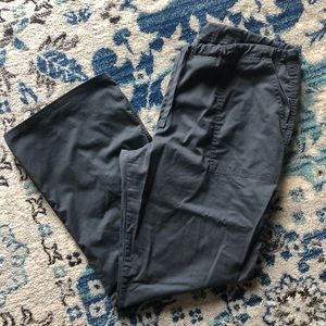 Cherokee drawstring dark grey scrub pants